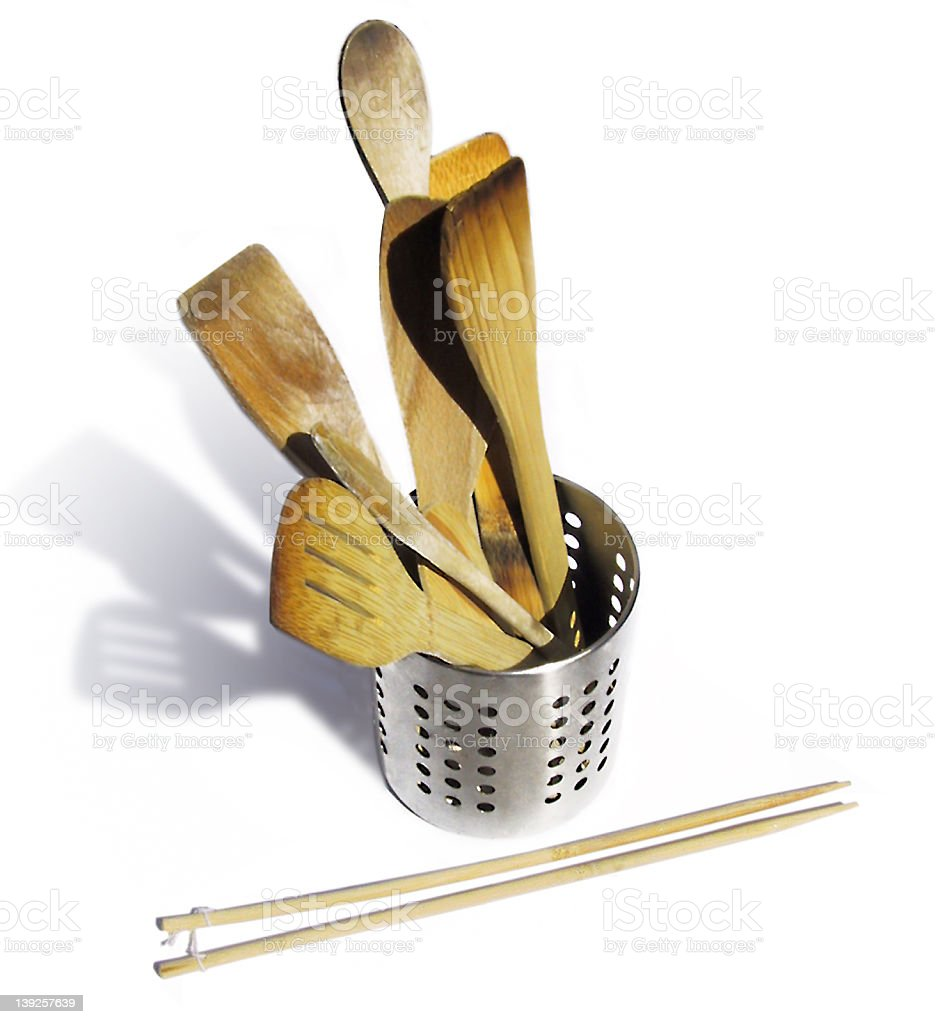 Wooden Utensils royalty-free stock photo