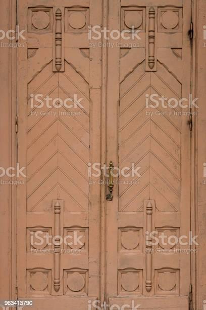 Drewniane Zabytkowe Drzwi Tekstury Tła - zdjęcia stockowe i więcej obrazów Bez ludzi