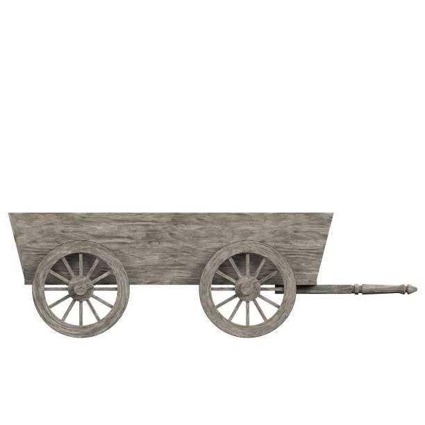 Wooden wagon - foto stock