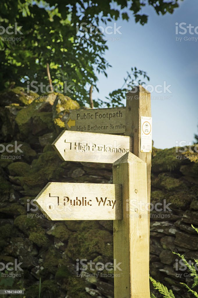 Wooden walking sign royalty-free stock photo
