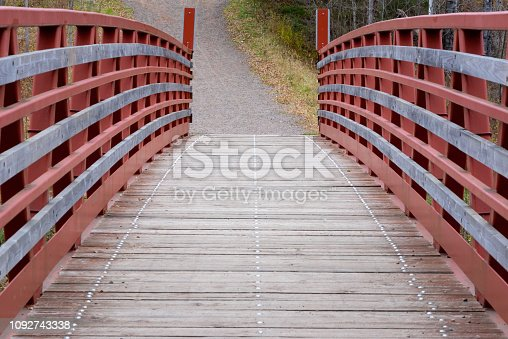 Footbridge, Bridge - Built Structure, Season, Autumn, USA