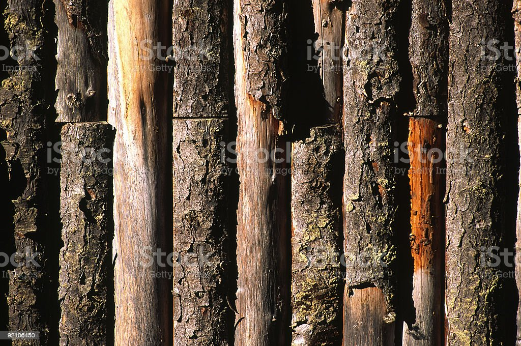 Wooden wall / fence royalty-free stock photo