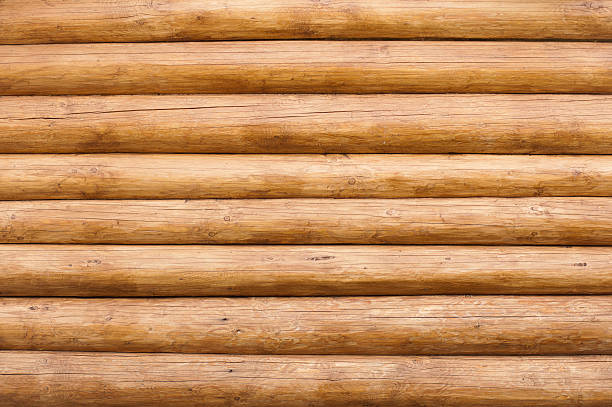 Wooden wall Pattern of wooden wall. Perfect nature background log stock pictures, royalty-free photos & images