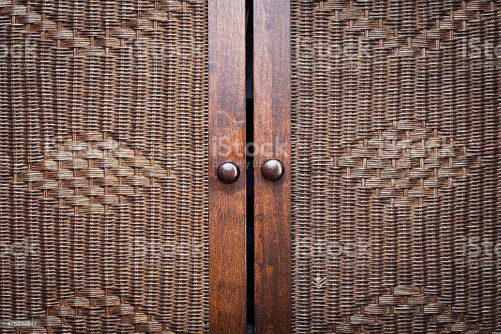 Wooden wardroabe stock photo