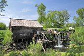 Wooden watermill in central Russia