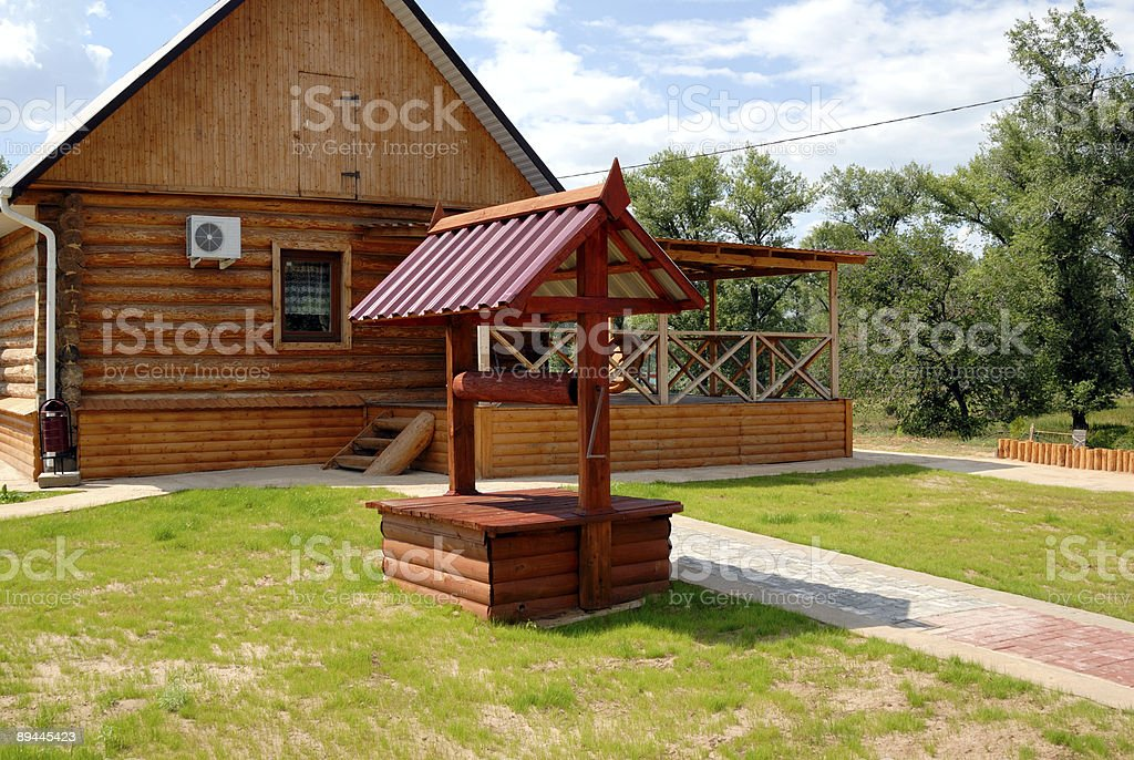 Wooden well royalty-free stock photo
