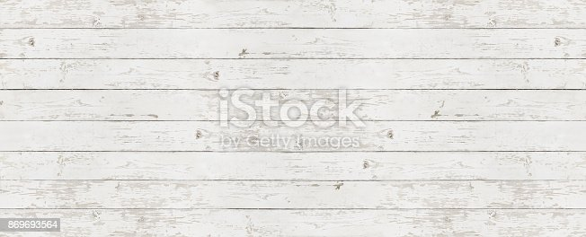 istock wooden white texture background, top view copy space template 869693564