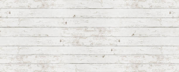 wooden white texture background, top view copy space template stock photo