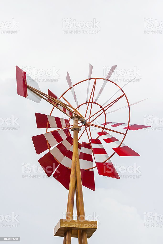 wooden windmill royalty-free stock photo
