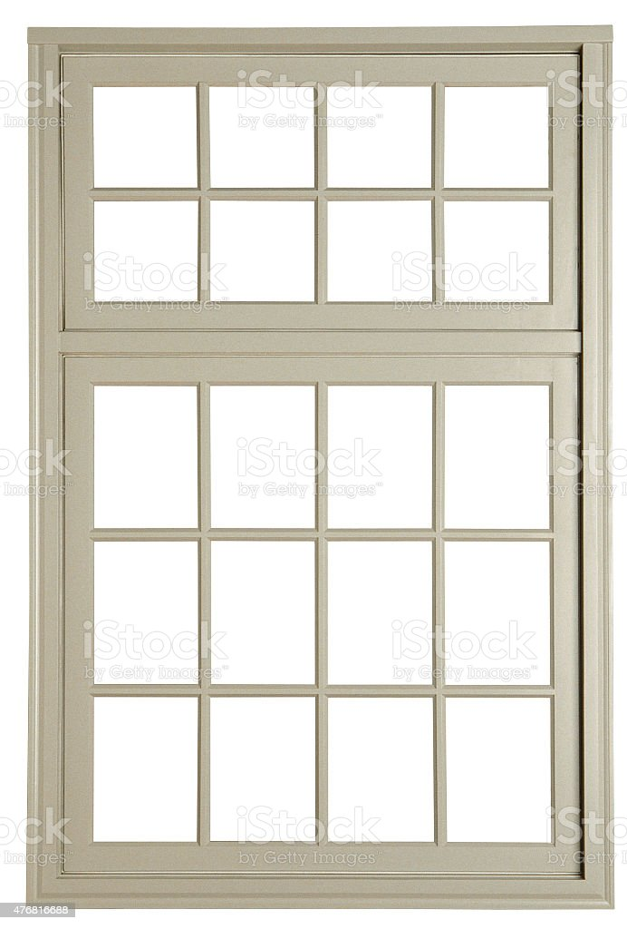 wooden window frame stock photo