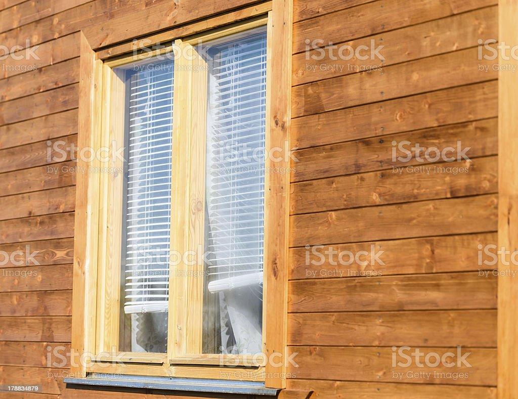wooden window royalty-free stock photo