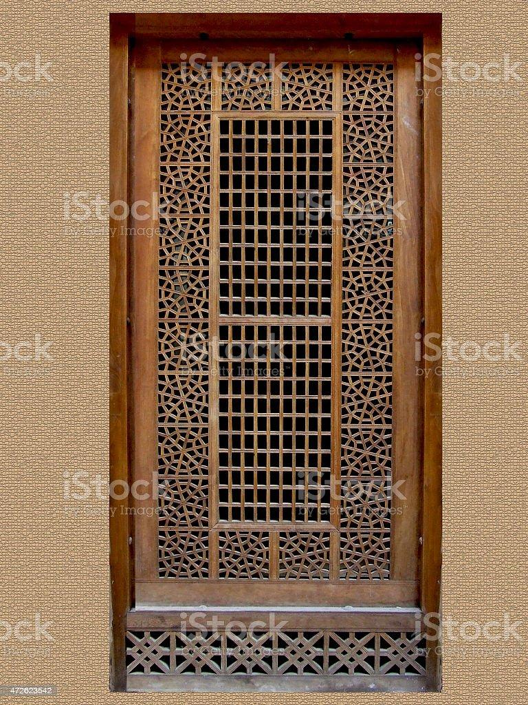 Entourage De Fenetre En Bois photo libre de droit de fenêtre en bois banque d'images et