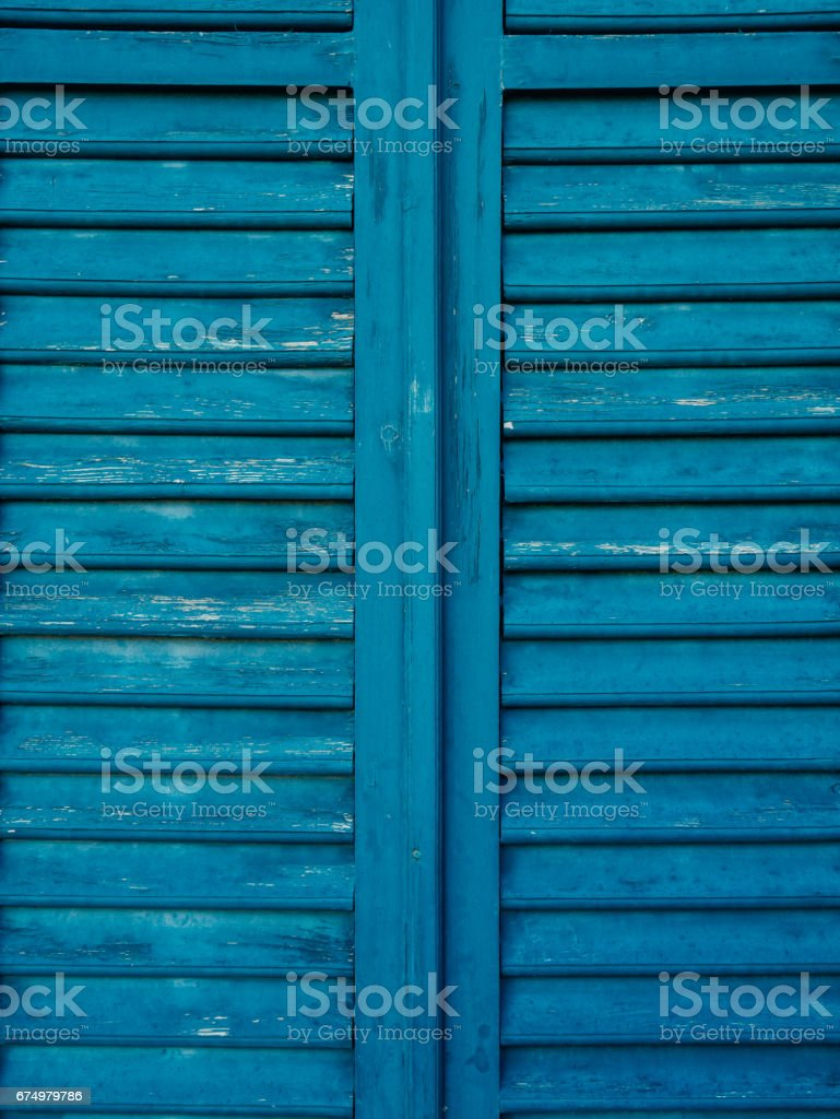 Wooden Window Shutters In Blue Antique Homemade Shutters On