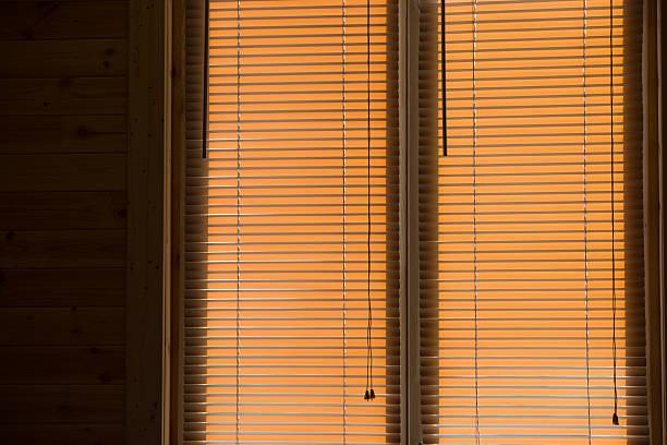 Cтоковое фото Деревянные окна Жалюзи