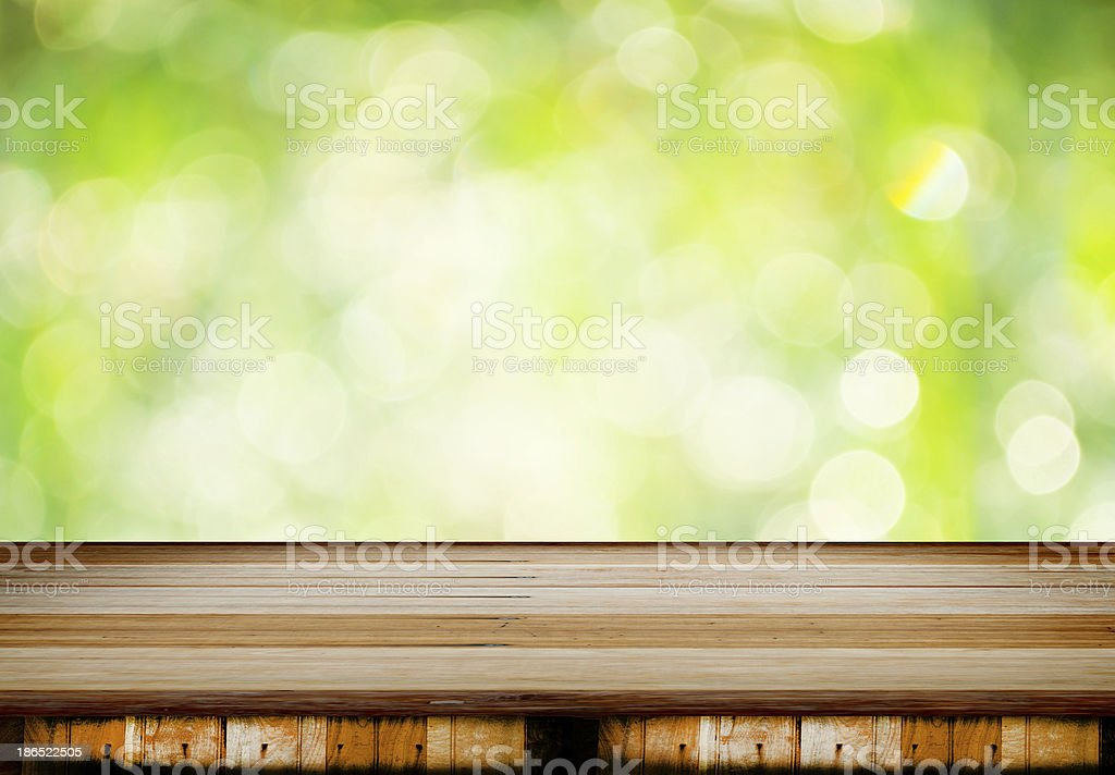 wooden with bokeh background royalty-free stock photo