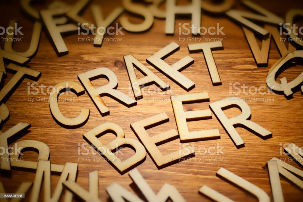 Wooden words craft beer – zdjęcie