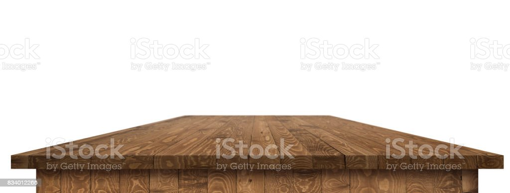 Wooden worktop surface with clipping path stock photo