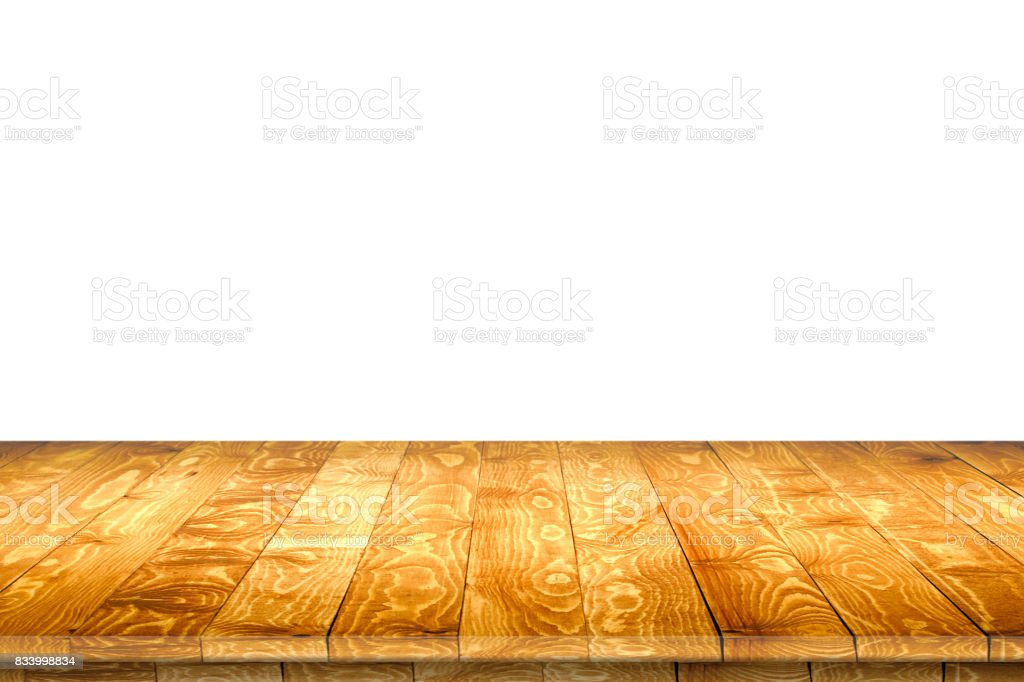 Wooden worktop surface with old natural pattern. stock photo