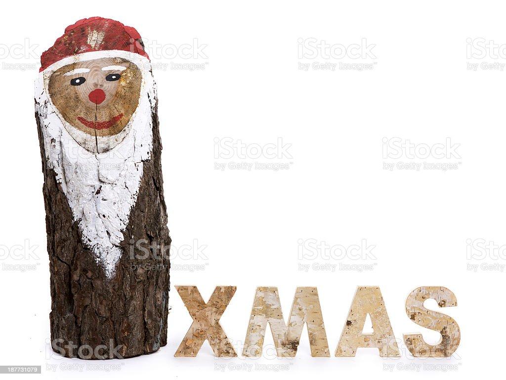 wooden xmas santa claus royalty-free stock photo