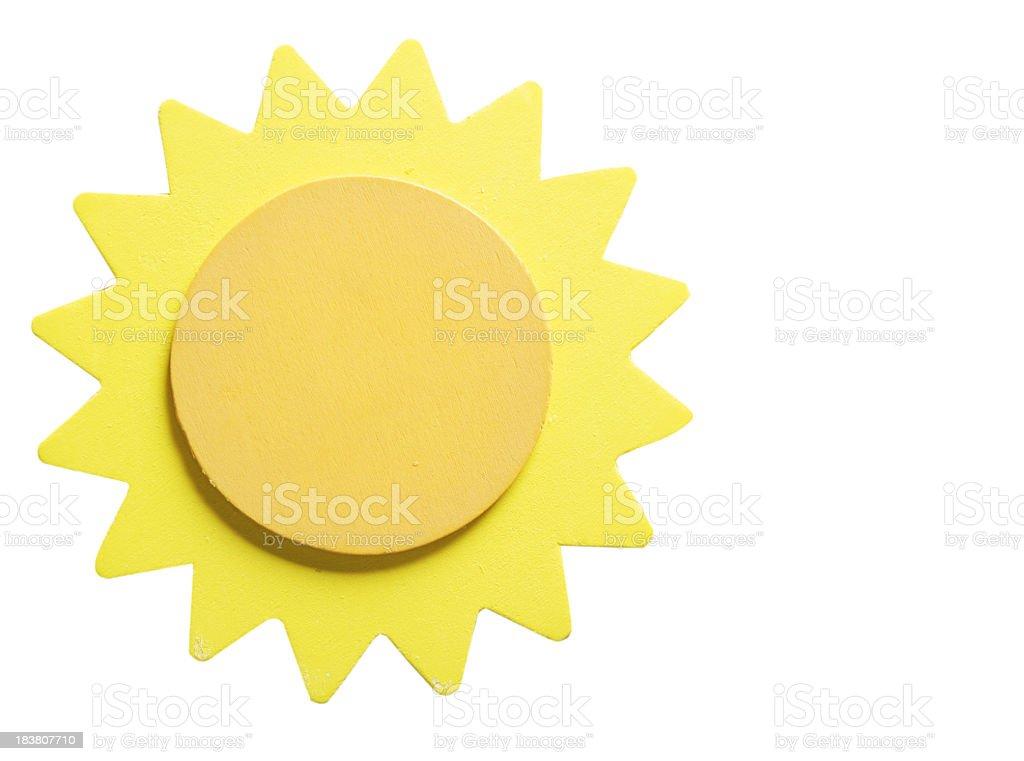 Wooden Yellow Sun stock photo
