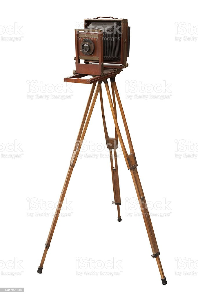 WoodenViewCamera stock photo