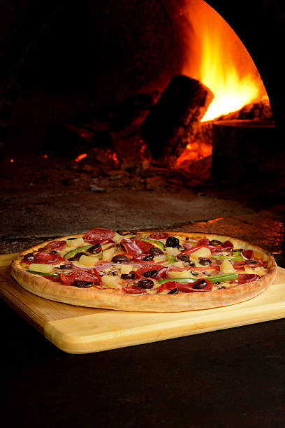 Woodfire Pizza stock photo
