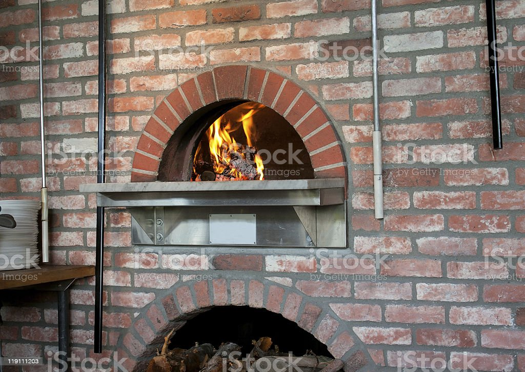 Wood-Fired Pizza Oven stock photo