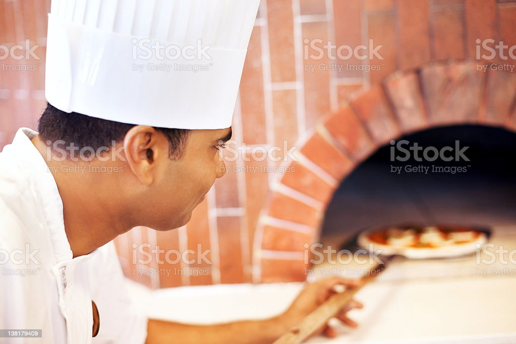 Wood-fired pizza royalty-free stock photo