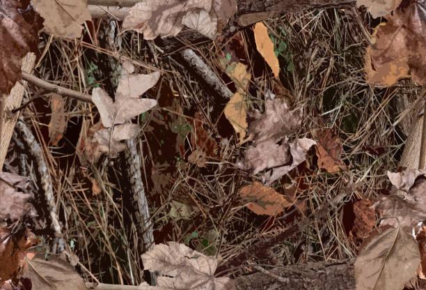 a woodland camouflage pattern for hunting purposes - kamuflaż zdjęcia i obrazy z banku zdjęć