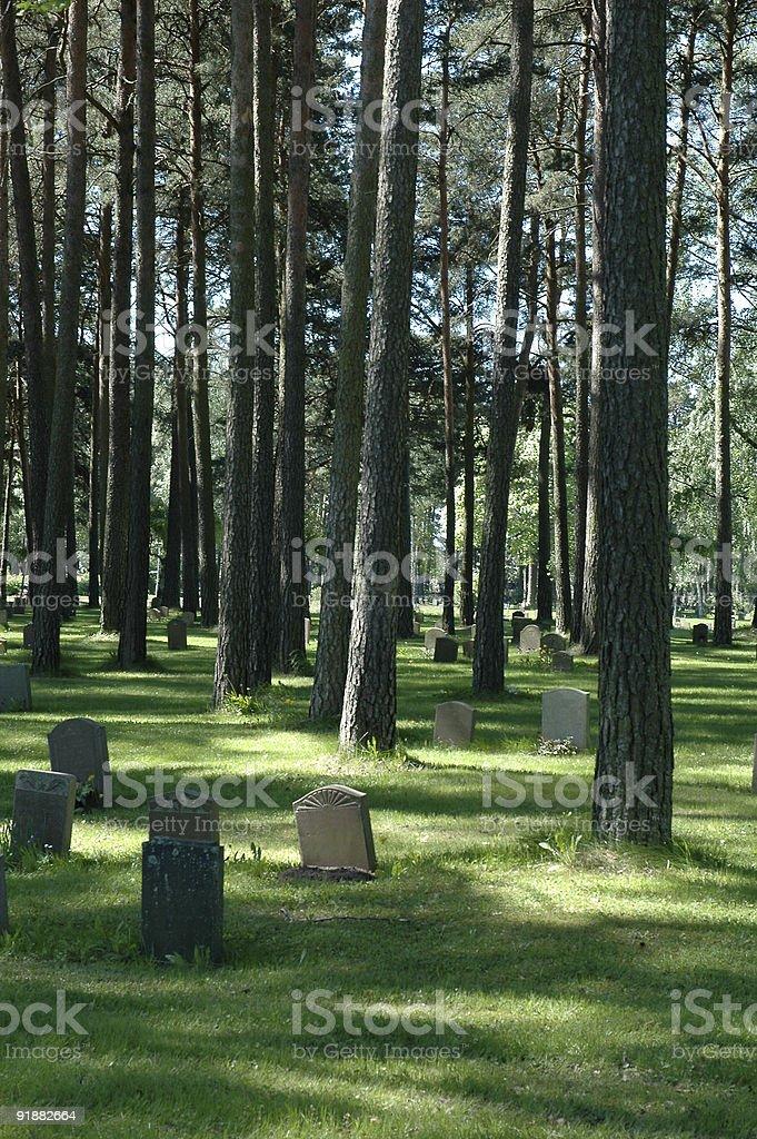 Woodland Cemetery royalty-free stock photo