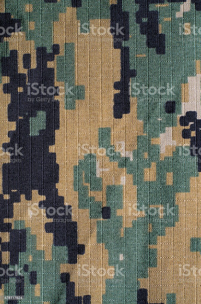 Woodland digital camouflage rip-stop vertical background stock photo
