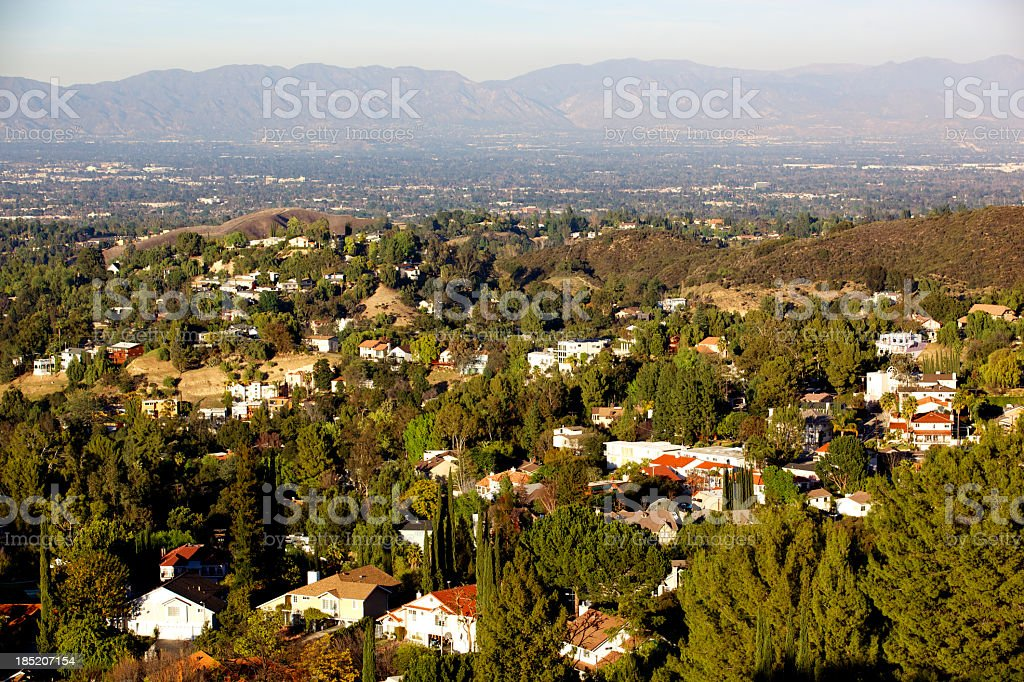 Woodland Hills Panorama in the San Fernando Valley stock photo