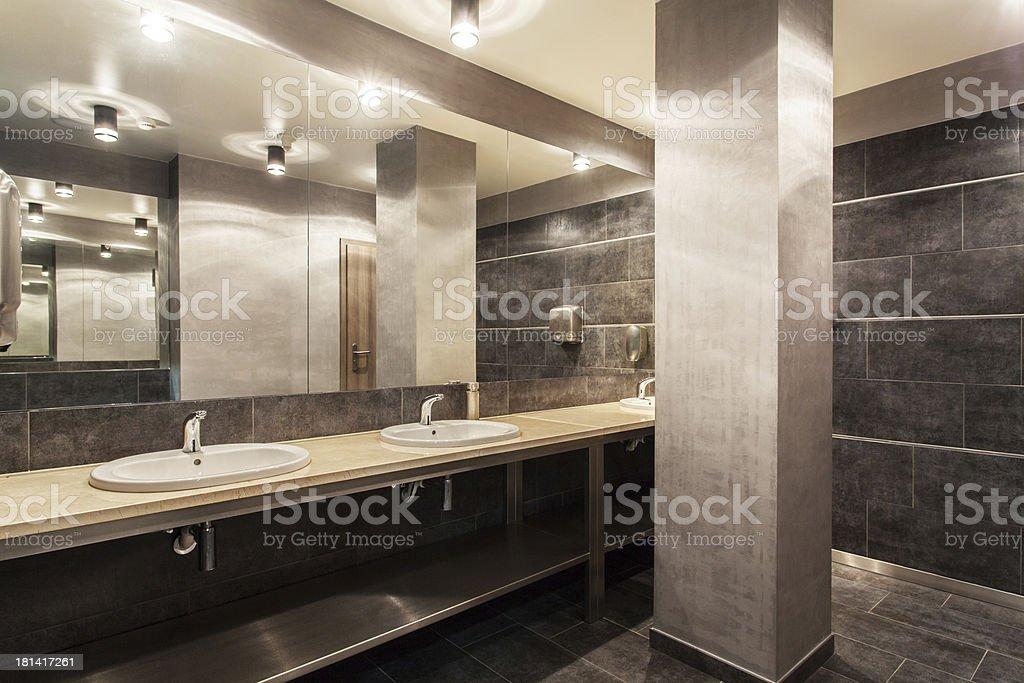 Woodland hotel - Public bathroom interior royalty-free stock photo