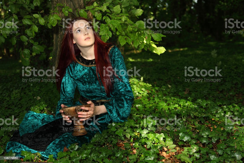 Woodland Maiden stock photo