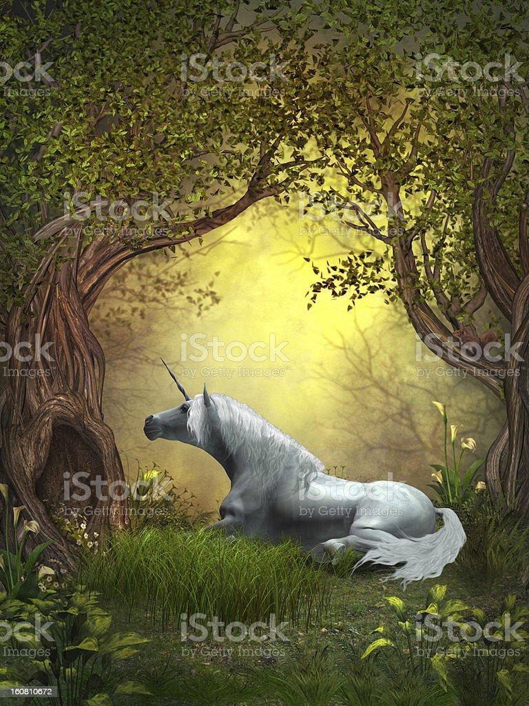 Woodland Unicorn royalty-free stock photo