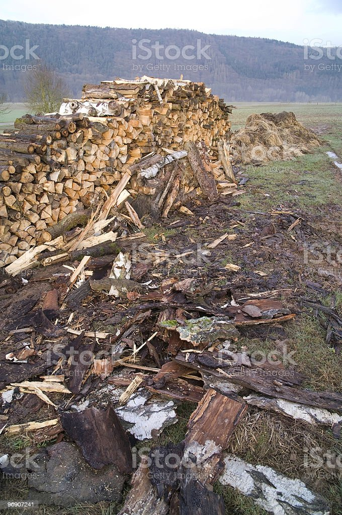 Woodpile and Dunghill royalty-free stock photo