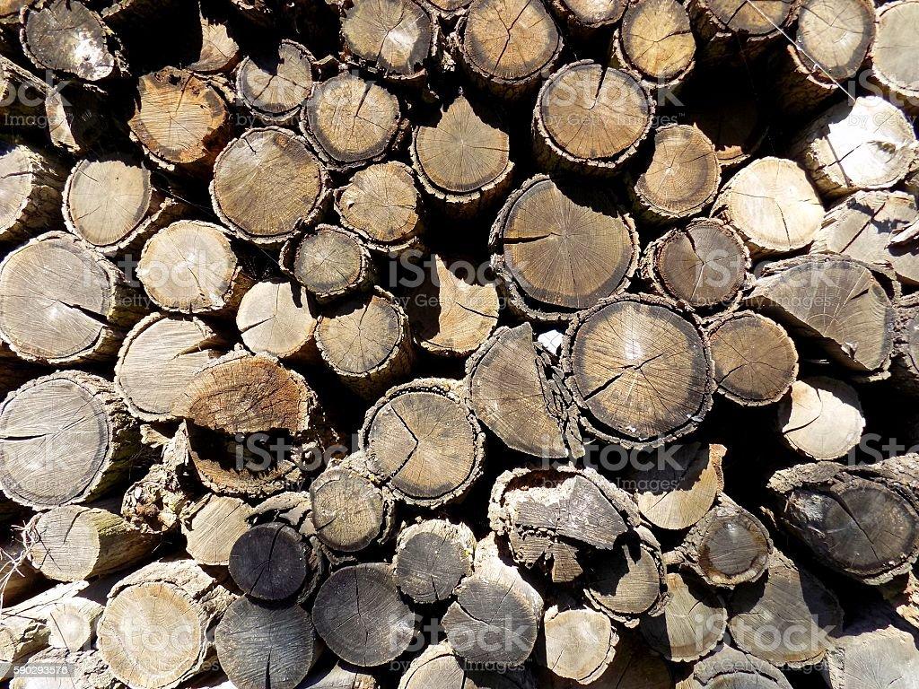 Охапка дров фоне Стоковые фото Стоковая фотография