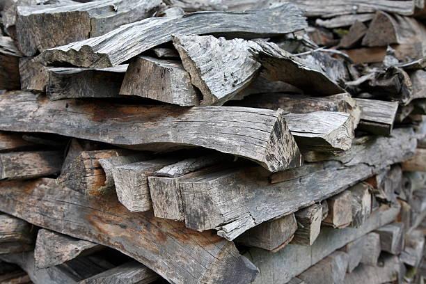 Woodpile stock photo