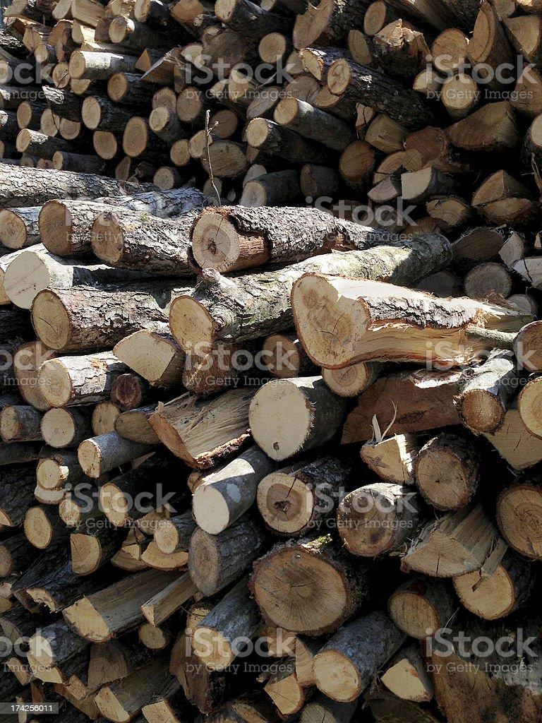 Woodpile royalty-free stock photo