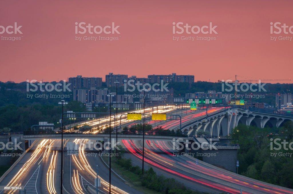 Woodrow Wilson Bridge stock photo