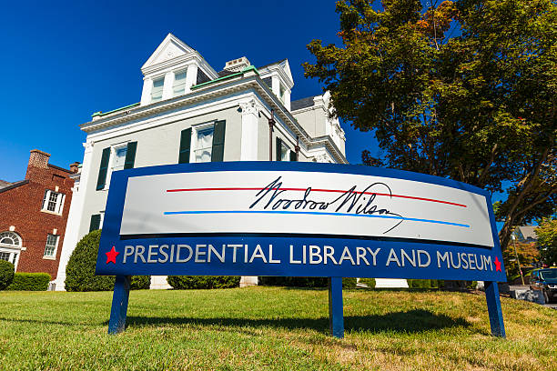 woodrow wilson presidential library and museum in staunton, virginia - кандидат на пост президента стоковые фото и изображения