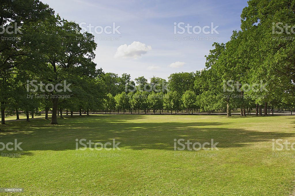 Woods of Drottningholm Royal Castle in Stockholm, Sweden royalty-free stock photo
