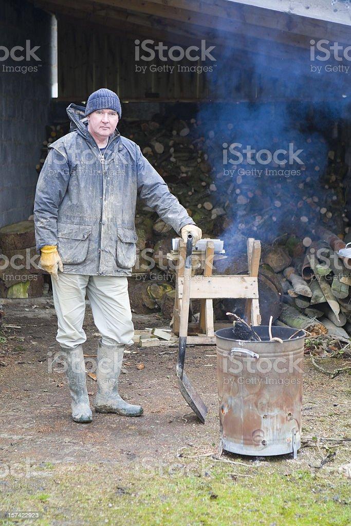 Woodsman At Work royalty-free stock photo