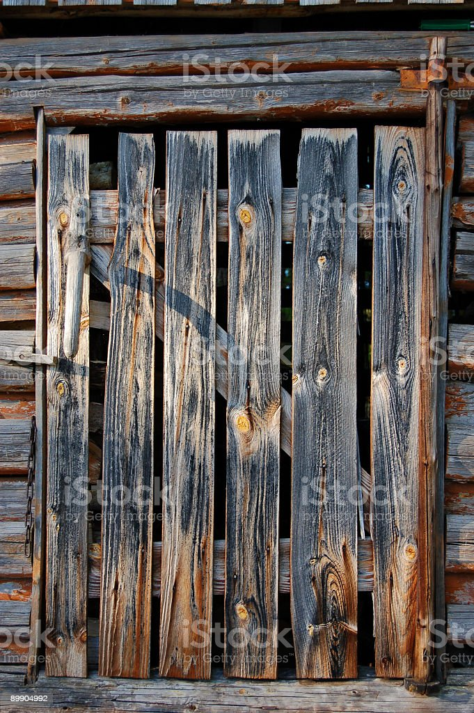 Woodstore дверь Стоковые фото Стоковая фотография