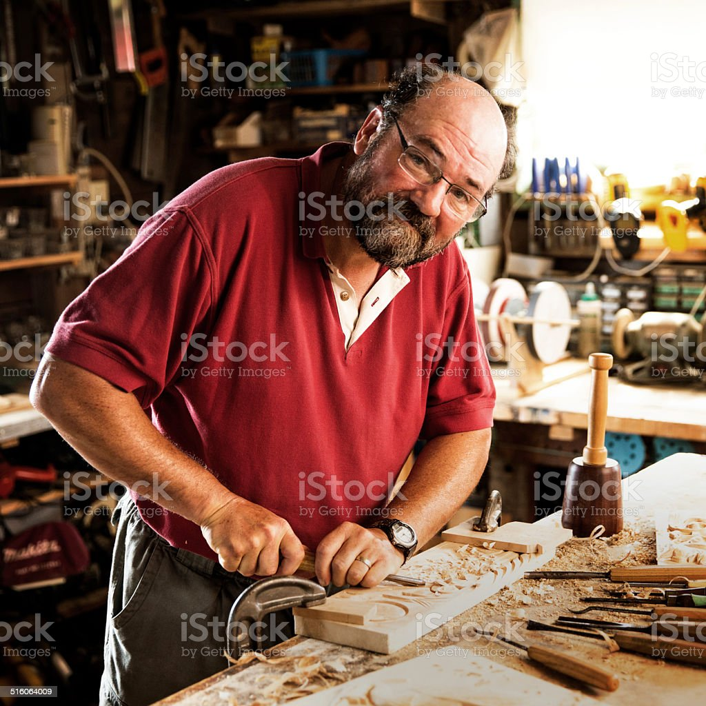 Woodworker stock photo