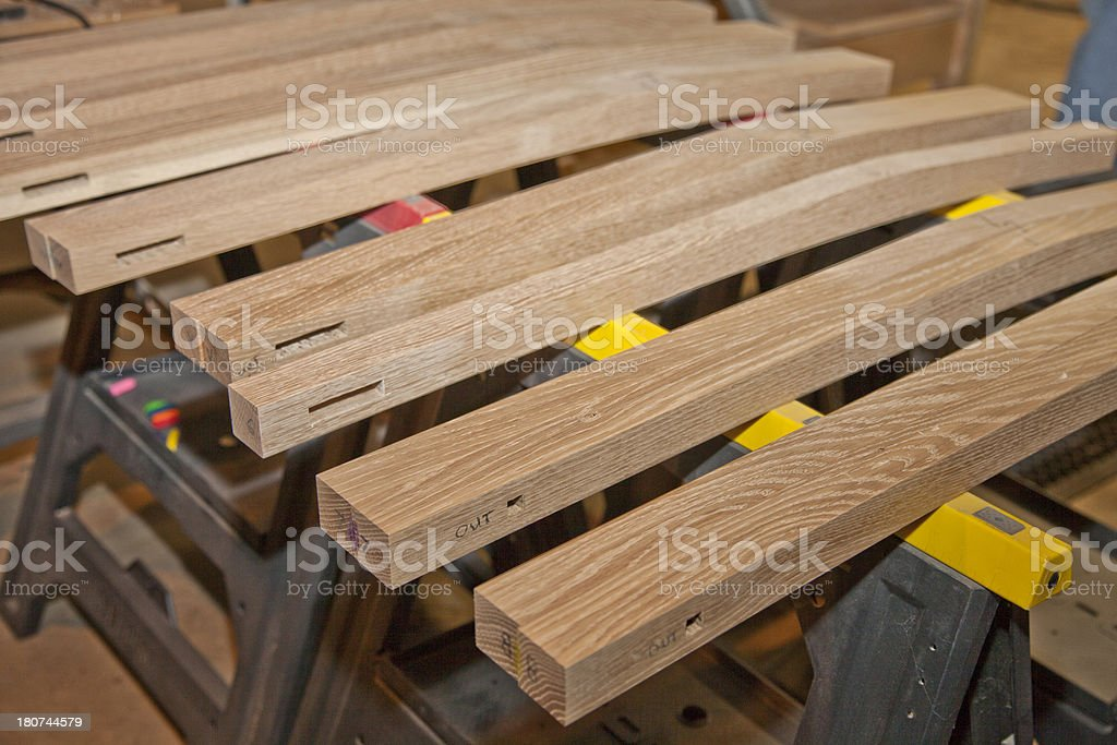 Woodworking - Chair legs royalty-free stock photo
