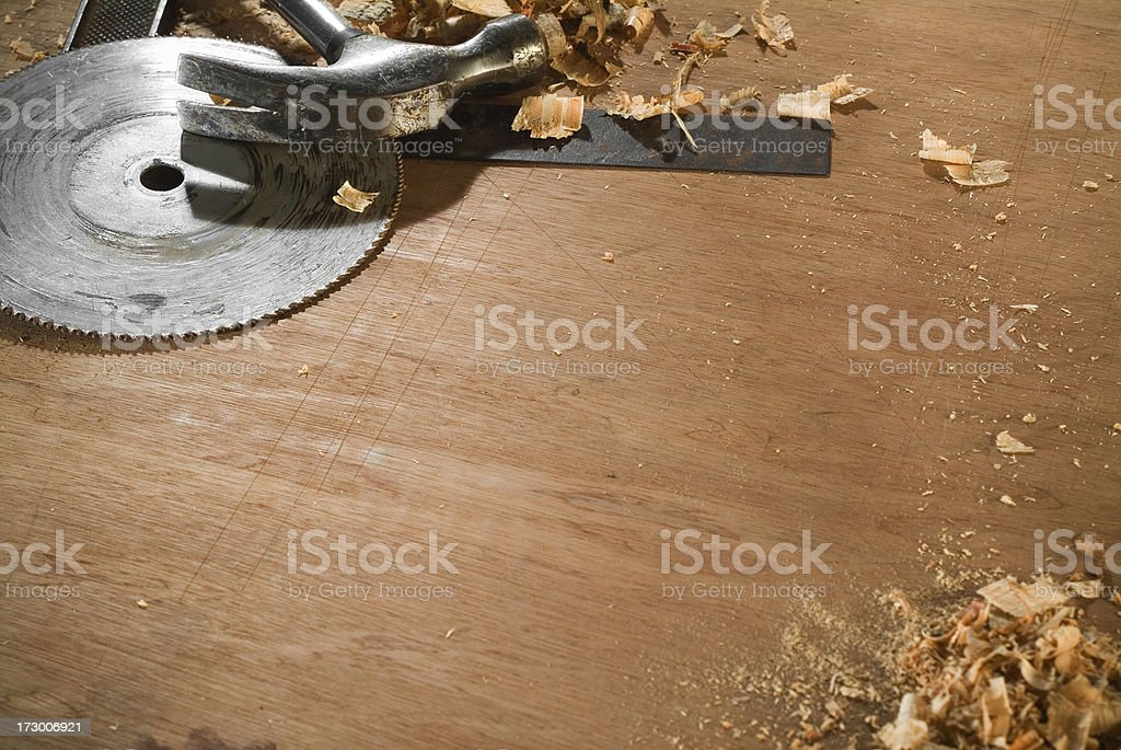 Woodworking copy space royalty-free stock photo