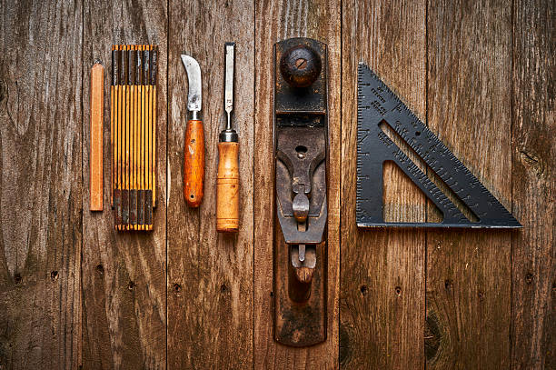 woodworking tools stock photo