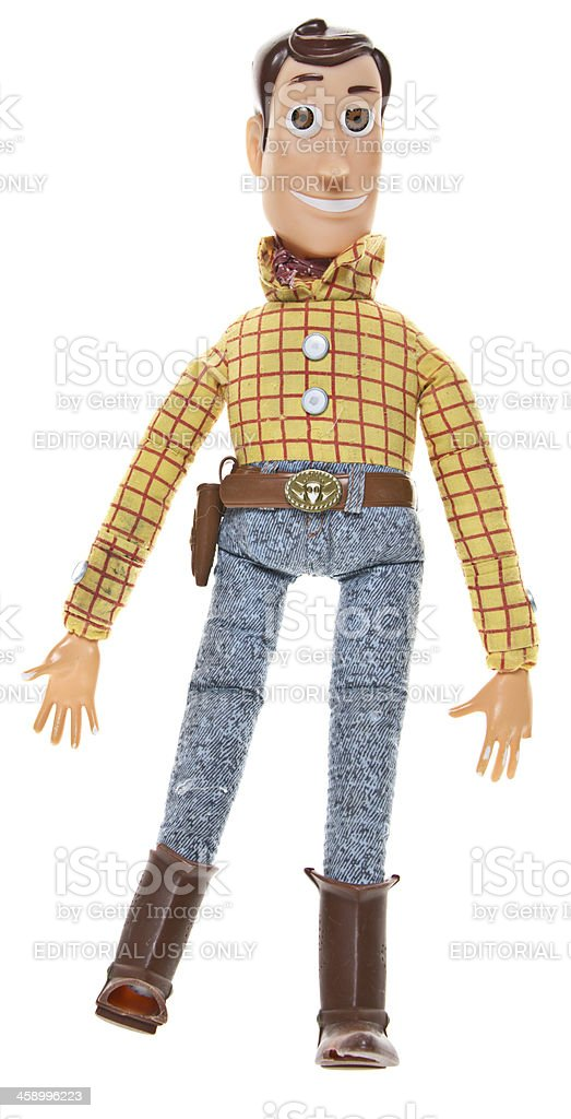 Woody, a Pullstring Cowboy Doll stock photo