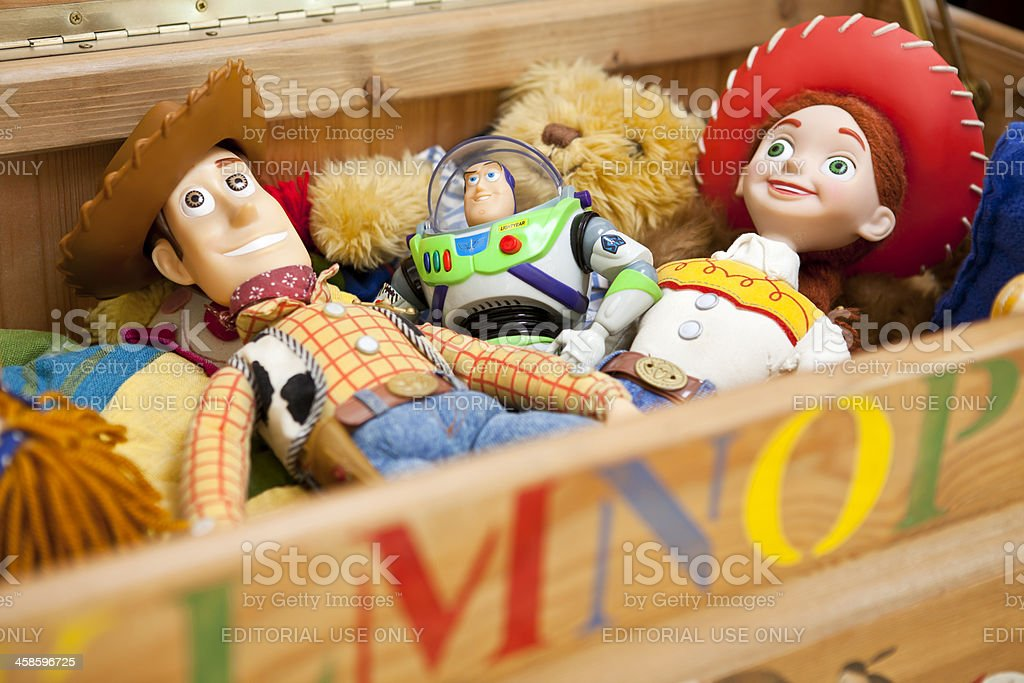 Woody, Buzz and Jessie of Toy Story stock photo
